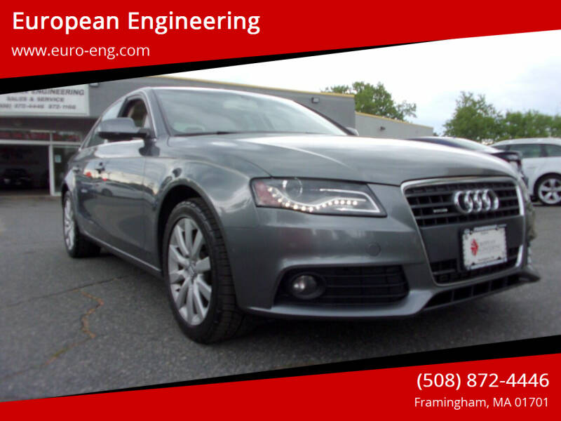 2012 Audi A4 for sale at European Engineering in Framingham MA