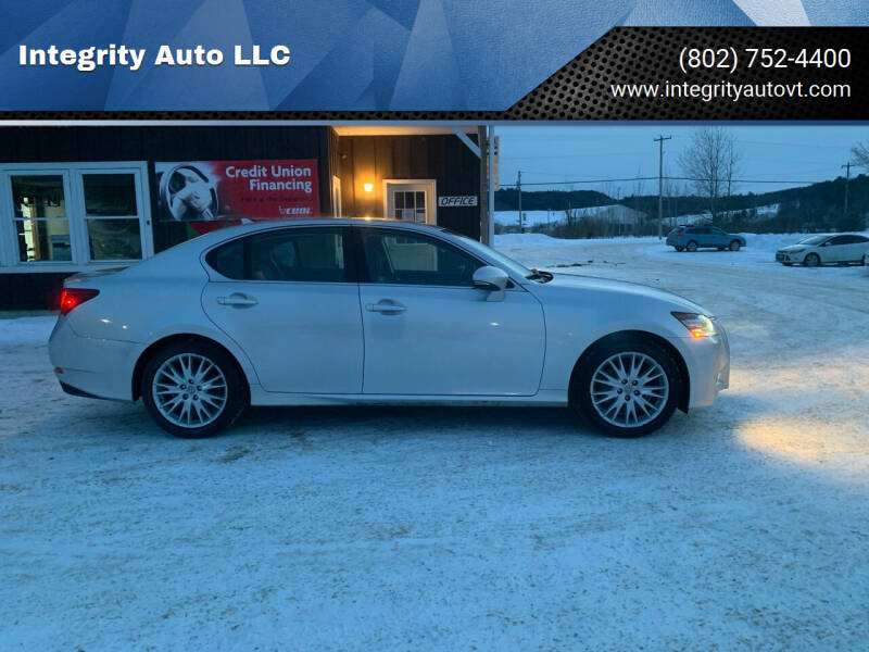 2013 Lexus GS 350 for sale at Integrity Auto LLC in Sheldon VT