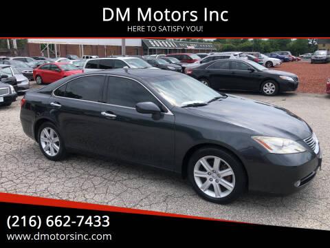 2009 Lexus ES 350 for sale at DM Motors Inc in Maple Heights OH