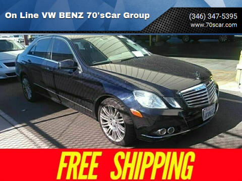 2010 Mercedes-Benz E-Class for sale at On Line VW BENZ 70'sCar Group in Warehouse CA