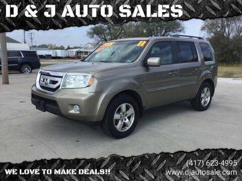 2011 Honda Pilot for sale at D & J AUTO SALES in Joplin MO