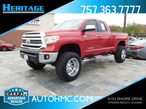 2015 Toyota Tundra for sale at Heritage Motor Company in Virginia Beach VA