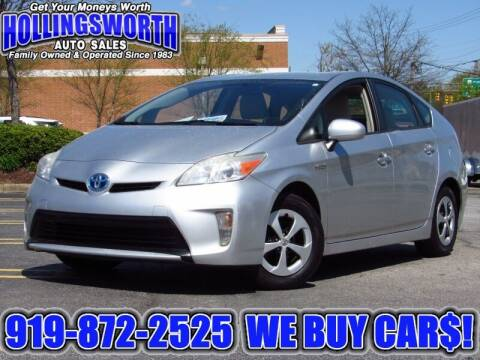 2012 Toyota Prius for sale at Hollingsworth Auto Sales in Raleigh NC