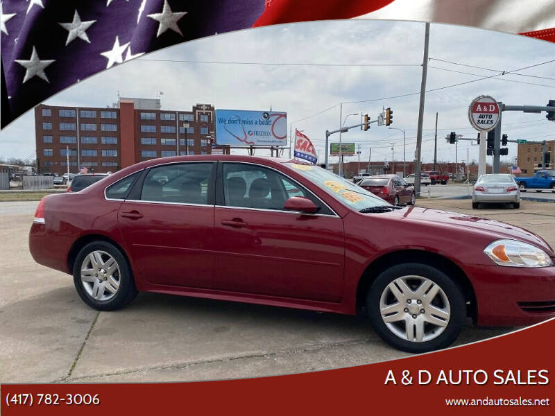 2013 Chevrolet Impala for sale at A & D Auto Sales in Joplin MO