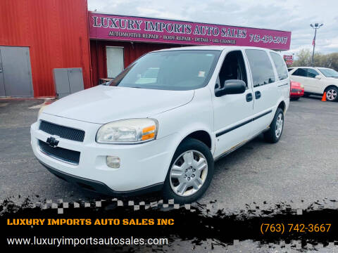 2008 Chevrolet Uplander for sale at LUXURY IMPORTS AUTO SALES INC in North Branch MN
