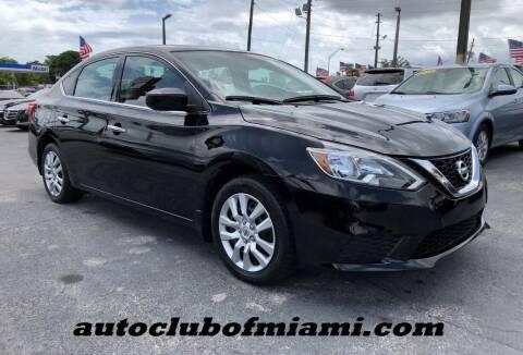 2017 Nissan Sentra for sale at AUTO CLUB OF MIAMI in Miami FL