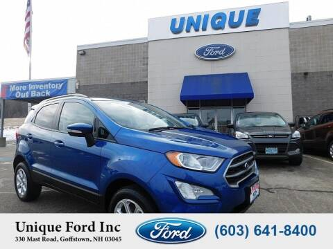 2020 Ford EcoSport for sale at Unique Motors of Chicopee - Unique Ford in Goffstown NH