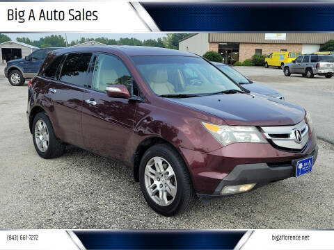 2007 Acura MDX for sale at Big A Auto Sales Lot 2 in Florence SC