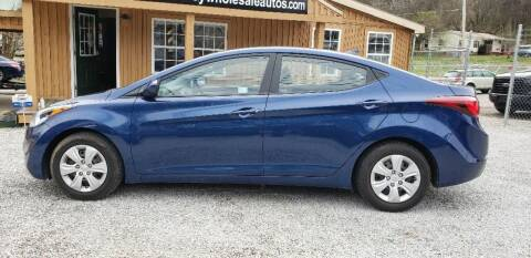 2016 Hyundai Elantra for sale at Tennessee Valley Wholesale Autos LLC in Huntsville AL