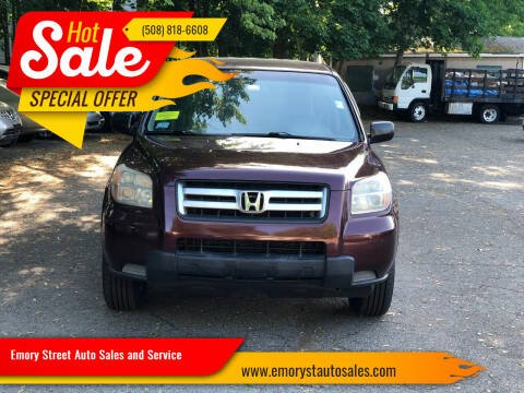 2007 Honda Pilot for sale at Emory Street Auto Sales and Service in Attleboro MA