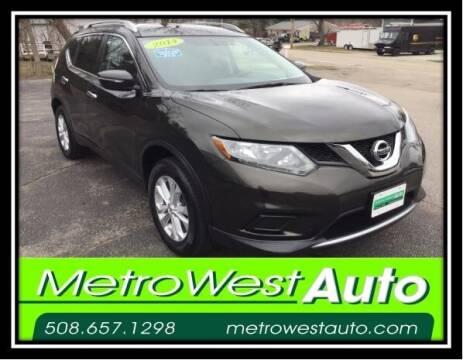 2014 Nissan Rogue for sale at Metro West Auto in Bellingham MA