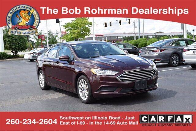 2017 Ford Fusion for sale at BOB ROHRMAN FORT WAYNE TOYOTA in Fort Wayne IN