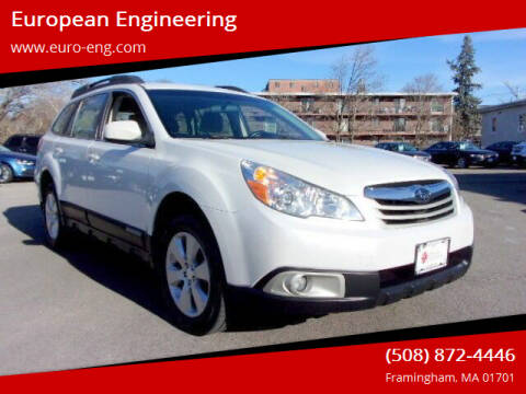 2012 Subaru Outback for sale at European Engineering in Framingham MA
