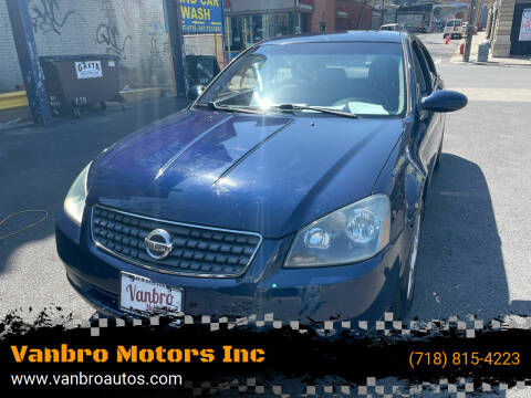 2005 Nissan Altima for sale at Vanbro Motors Inc in Staten Island NY