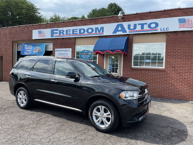 2013 Dodge Durango for sale at FREEDOM AUTO LLC in Wilkesboro NC