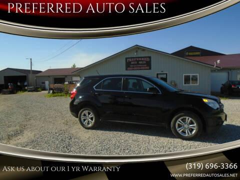 2013 Chevrolet Equinox for sale at PREFERRED AUTO SALES in Lockridge IA