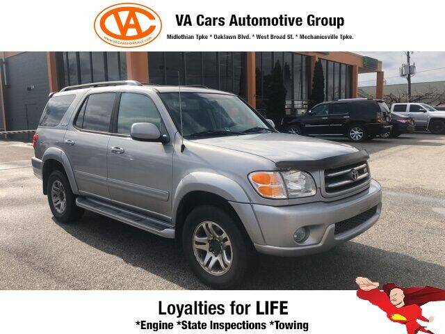 2004 Toyota Sequoia for sale at VA Cars Inc in Richmond VA
