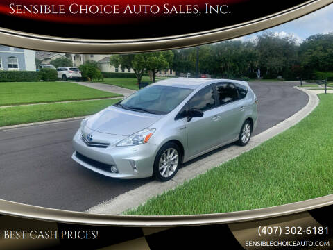 2013 Toyota Prius v for sale at Sensible Choice Auto Sales, Inc. in Longwood FL