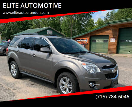 2011 Chevrolet Equinox for sale at ELITE AUTOMOTIVE in Crandon WI
