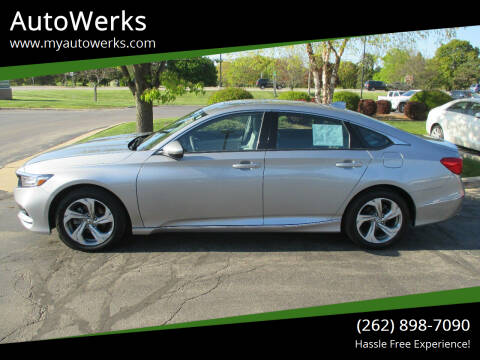 2018 Honda Accord for sale at AutoWerks in Sturtevant WI