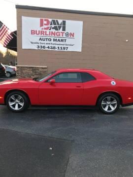 2016 Dodge Challenger for sale at Burlington Auto Mart in Burlington NC