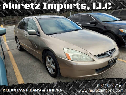 2003 Honda Accord for sale at Moretz Imports, LLC in Spring TX