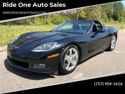 2005 Chevrolet Corvette for sale at Ride One Auto Sales in Norfolk VA