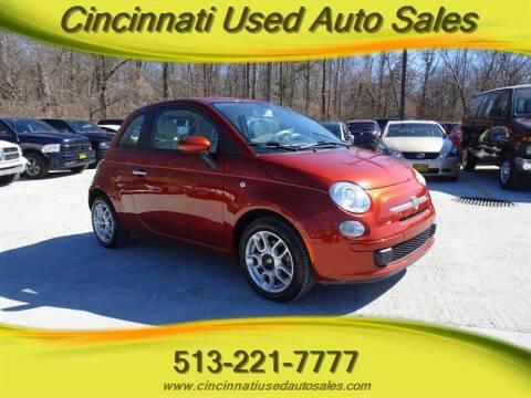 2012 FIAT 500 for sale at Cincinnati Used Auto Sales in Cincinnati OH