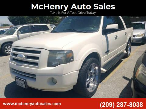 2007 Ford Expedition EL for sale at McHenry Auto Sales in Modesto CA