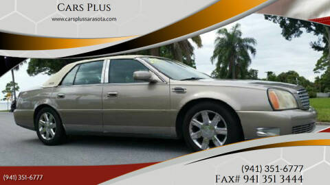 2002 Cadillac DeVille for sale at Cars Plus in Sarasota FL