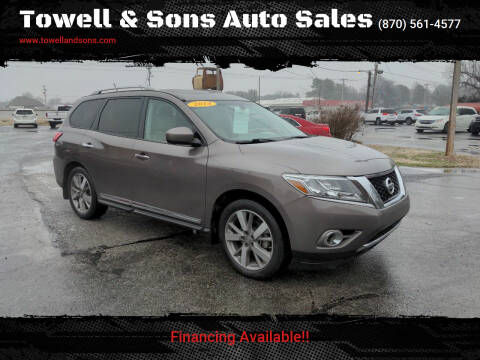 2014 Nissan Pathfinder for sale at Towell & Sons Auto Sales in Manila AR