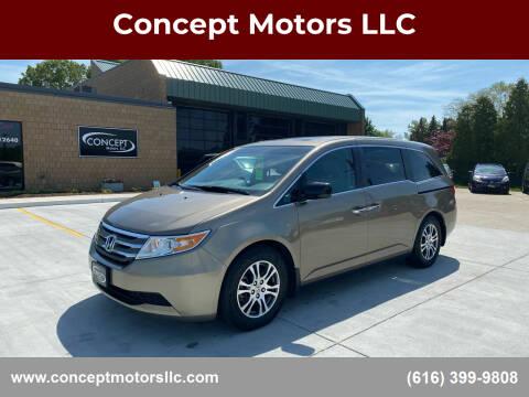 2012 Honda Odyssey for sale at Concept Motors LLC in Holland MI