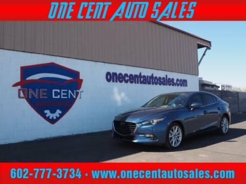 2017 Mazda MAZDA3 for sale at One Cent Auto Sales in Glendale AZ