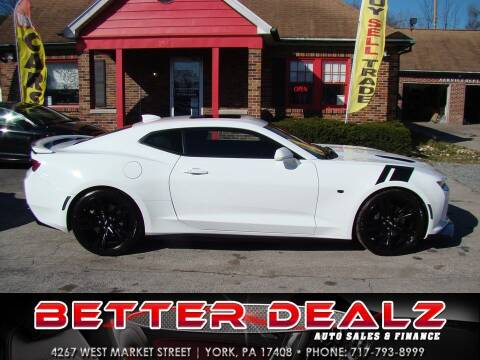 2016 Chevrolet Camaro for sale at Better Dealz Auto Sales & Finance in York PA