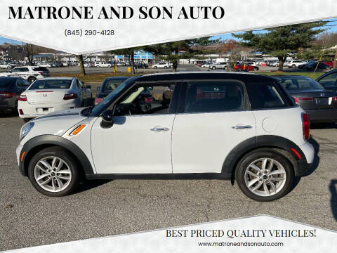 2011 MINI Cooper Countryman for sale at Matrone and Son Auto in Tallman NY