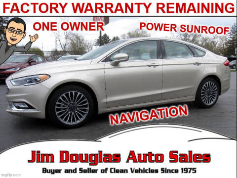 2017 Ford Fusion for sale at Jim Douglas Auto Sales in Pontiac MI