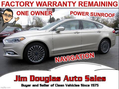 2017 Ford Fusion for sale at Jim Douglas Auto Sales in Pontiac MI