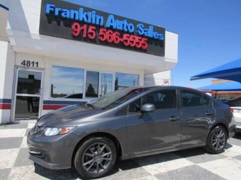 2013 Honda Civic for sale at Franklin Auto Sales in El Paso TX