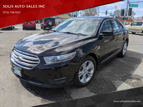 2013 Ford Taurus for sale at SOLIS AUTO SALES INC in Elko NV
