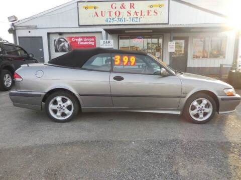 2001 Saab 9-3 for sale at G&R Auto Sales in Lynnwood WA