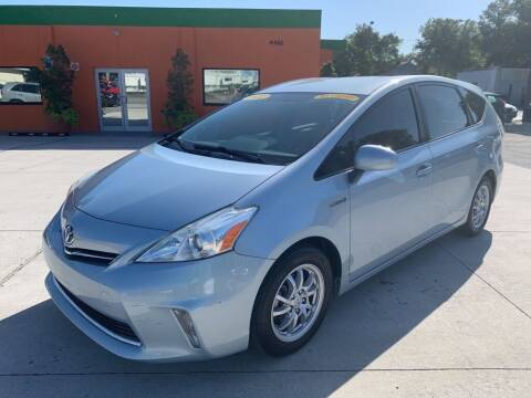 2012 Toyota Prius v for sale at Galaxy Auto Service, Inc. in Orlando FL