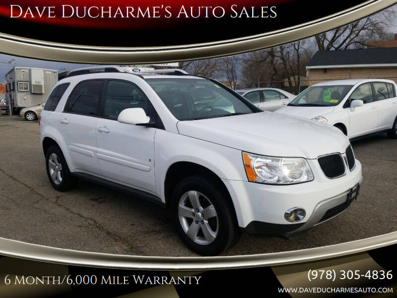 2007 Pontiac Torrent for sale at Dave Ducharme's Auto Sales in Lowell MA