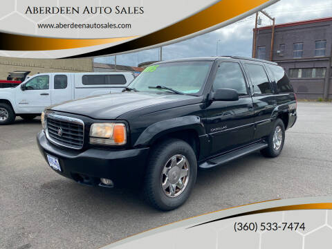 2000 Cadillac Escalade for sale at Aberdeen Auto Sales in Aberdeen WA