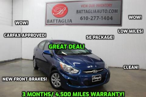 2017 Hyundai Accent for sale at Battaglia Auto Sales in Plymouth Meeting PA