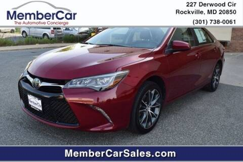 2016 Toyota Camry for sale at MemberCar in Rockville MD