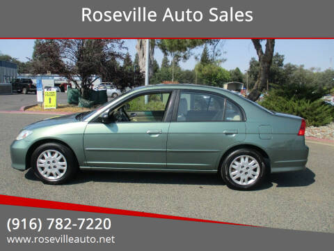 2004 Honda Civic for sale at Roseville Auto Sales 131 in Roseville CA