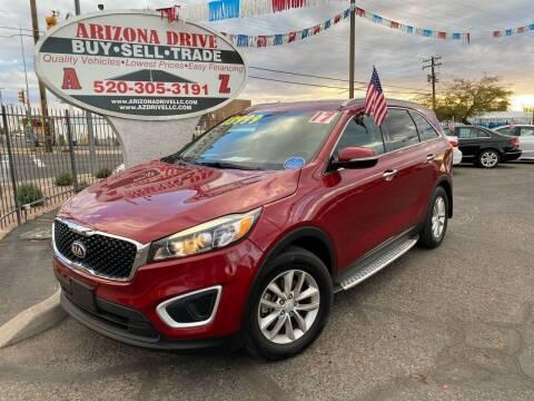 2017 Kia Sorento for sale at Arizona Drive LLC in Tucson AZ