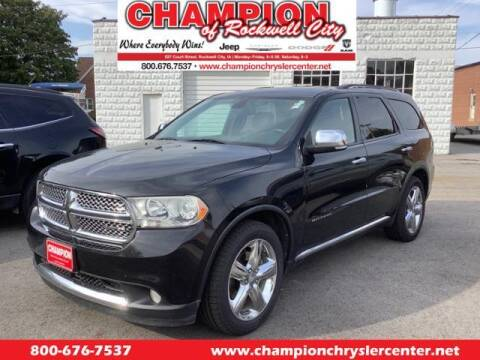 2012 Dodge Durango for sale at CHAMPION CHRYSLER CENTER in Rockwell City IA