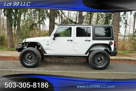 2014 Jeep Wrangler Unlimited for sale at LOT 99 LLC in Milwaukie OR