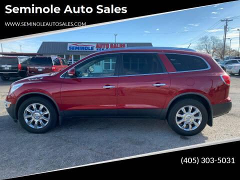 2012 Buick Enclave for sale at Seminole Auto Sales in Seminole OK